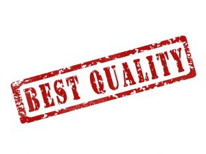 "The words ""best quality"" on a white background"