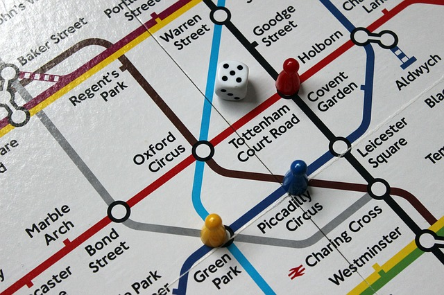 A subway map - board game.