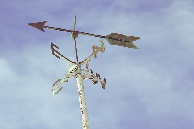 A direction arrow.