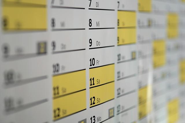 A schedule.