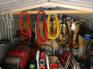 Cluttered tool shed