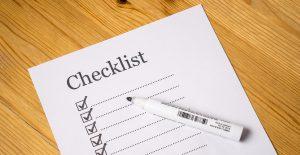 checklist on a paper