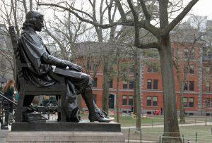A statue in Harvard.