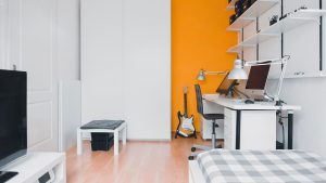 Expanding your living space by throwing together different furniture.