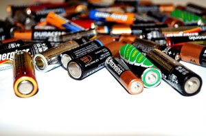 Disposing of old batteries