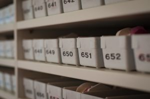 Organize your storage unit by labeling everything inside