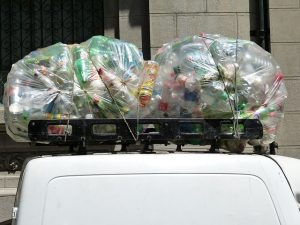 Recycling plastic bottles to maintain an eco-friendly business