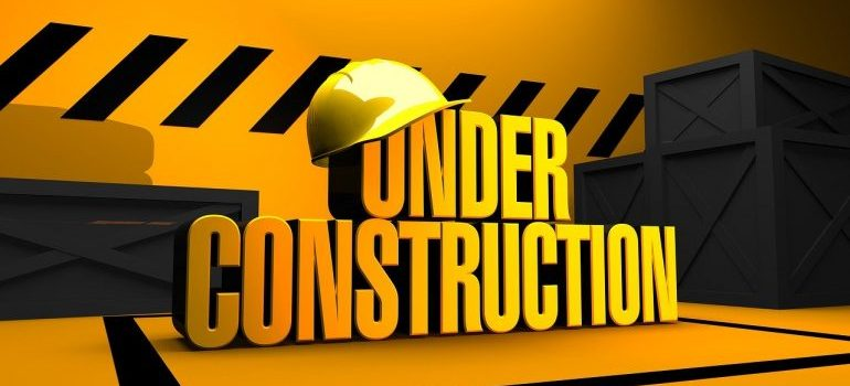 Under construction sign.