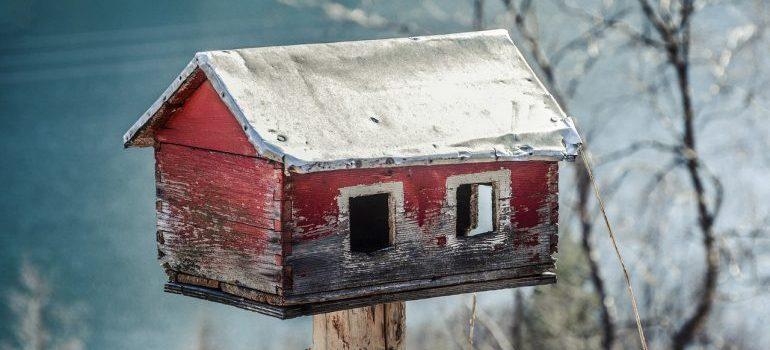 A bird house.