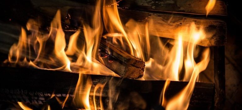 A fireplace - one of the best winter upgrades for homes.