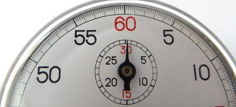 A white stop watch.