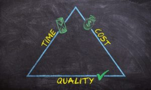 -illustration of time, costs and quality